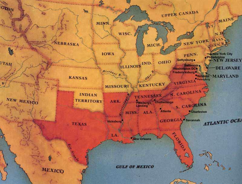 CIVIL WAR MAP 1